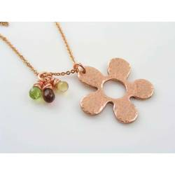 Flower and Gemstone Necklace