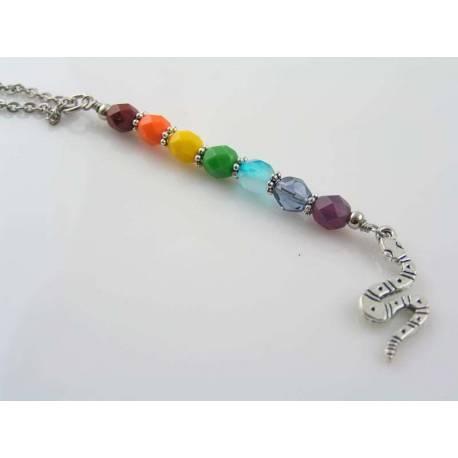 Rainbow Snake Necklace