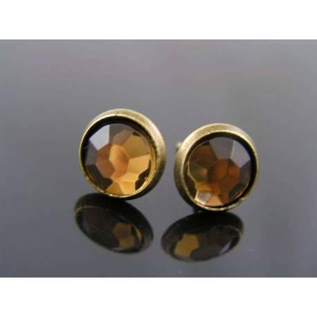 Topaz Crystal Stud Earrings