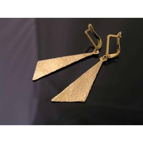 Hand Hammered Tie Earrings