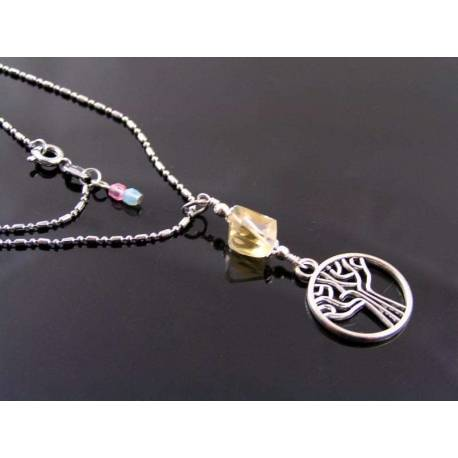 Tree of Life Necklace with Citrine