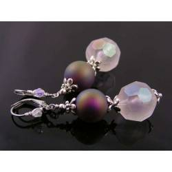 Retro Style Earrings, Light Weight Lucite
