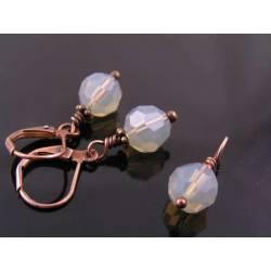 Grey Opal Swarovski Crystal Earrings and Pendant