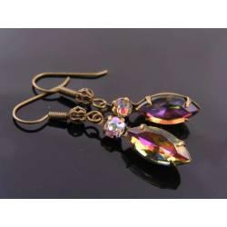 Rare Vintage Crystal Earrings