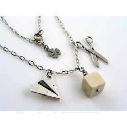 Scissors, Paper, Rock Necklace