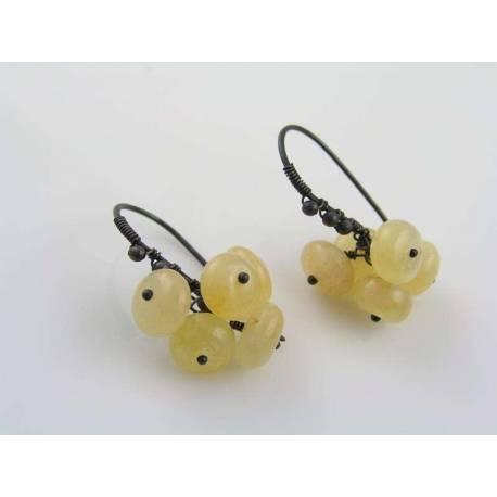 Honey Jade Pom-Pom Earrings