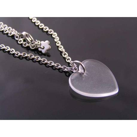 Minimalistic Heart Necklace, Gift Idea