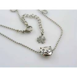 Tiny Cat Bead Necklace
