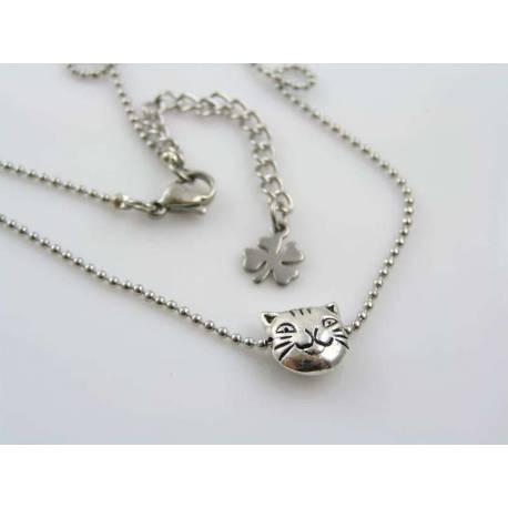 Tiny Cat Bead Necklace