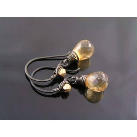 Mystic Champagne Quartz Earrings