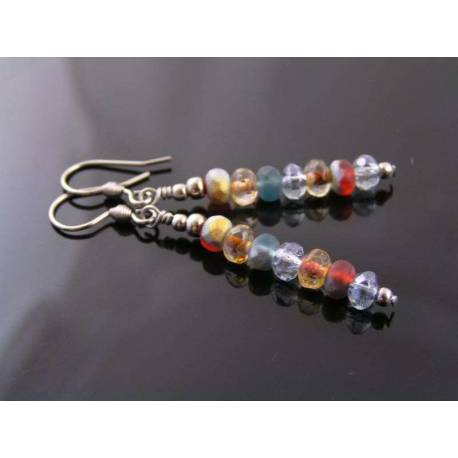 Czech Bead Linear Earrings
