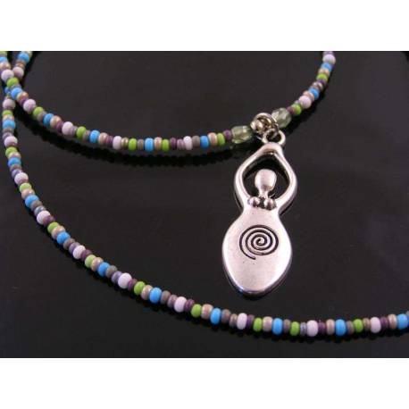 Beaded Goddess Necklace