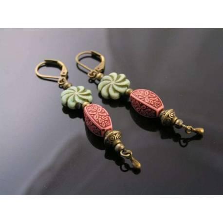 Light Weight Acrylic Bead Earrings
