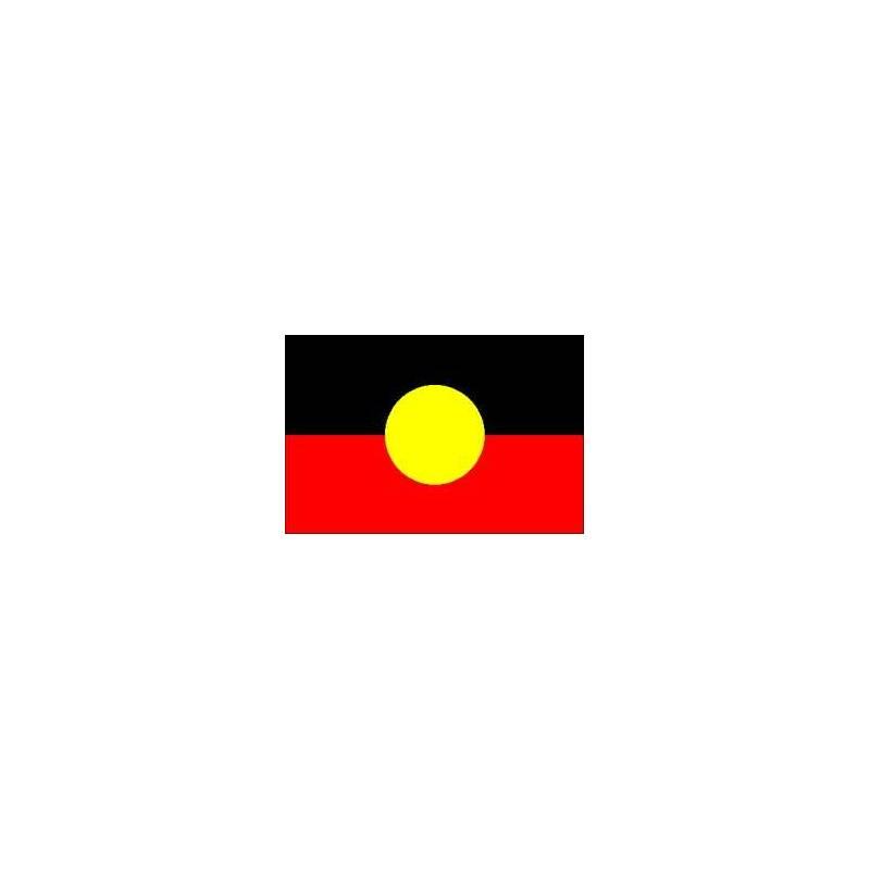 Aboriginal Flag Colours And Australia Map Necklace