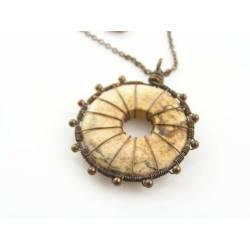 Desert Jasper Eternity Pendant Necklace