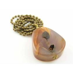 Huge Pear Shaped Agate with Druzy Necklace