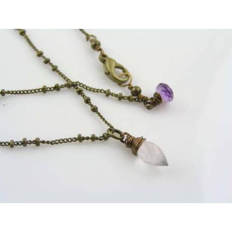 Cute Rose Quartz Necklace