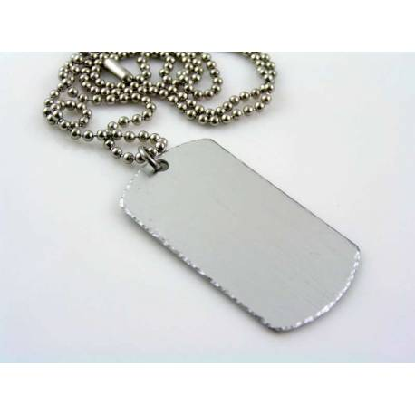 Rustic Dog Tag Necklace, Personalised