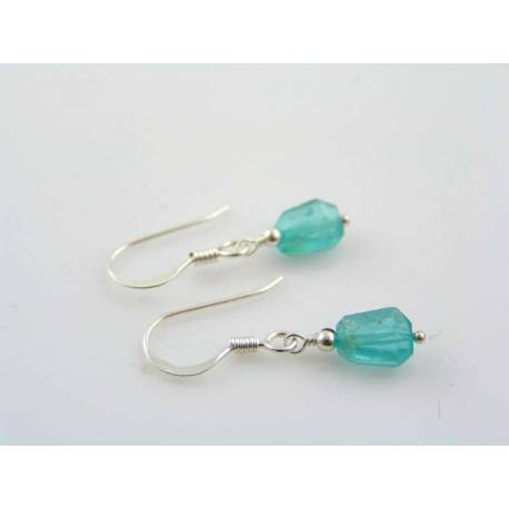 Tropical Blue Apatite Sterling Silver Earrings