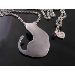 Large Cat Pendant Necklace