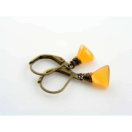 Triangular Carnelian Earrings