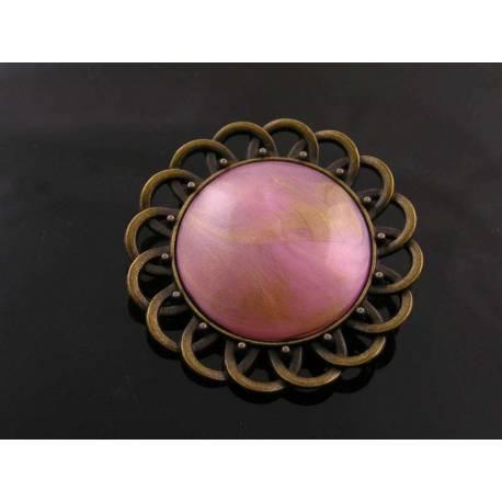 Shimmering Circular Brooch