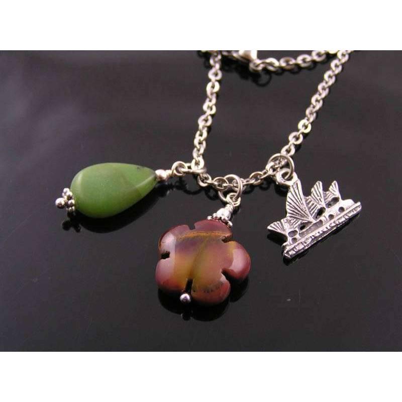 sydney opera charm necklace with australian gemstones