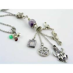 Supernatural Charm Necklace with Gemstones
