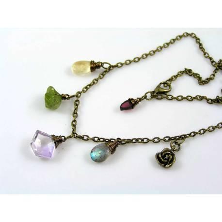 Gemstone Charm Necklace