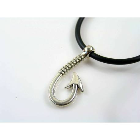 Fishing Hook Necklace, Gift Idea for Him
