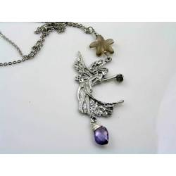 Large Fairy Necklace, Gemstones and Crystal