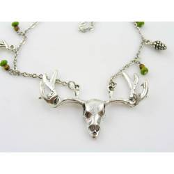 Antler Necklace, Silver