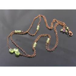 Delicate 2 Strand Peridot Necklace