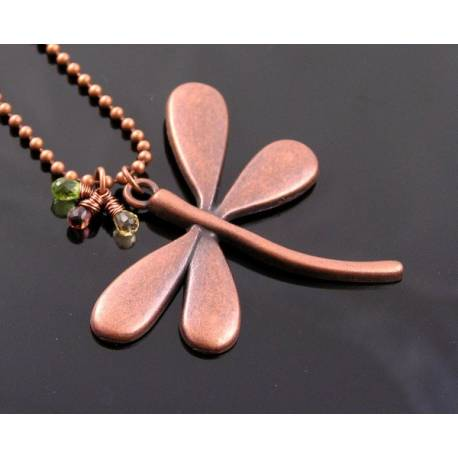Dragonfly and Gemstone Necklace