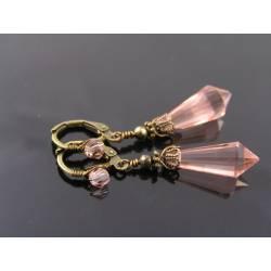 Vintage Pink Crystal Earrings