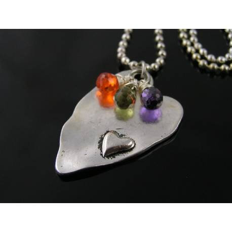 Large Heart Pendant and Cubic Zirconia Necklace