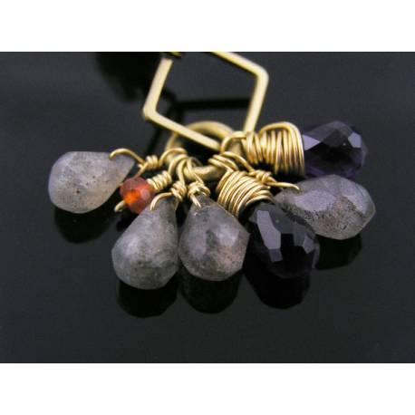 Geometric Labradorite Bracelet