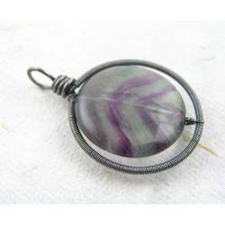Wire Wrapped Fluorite Pendant