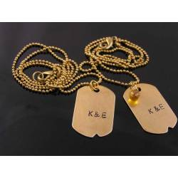 Matching Dog Tag Necklaces for Friends, Couples, Partners