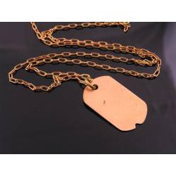Dog Tag Necklace, Copper, Handstamped with Words or Numbers