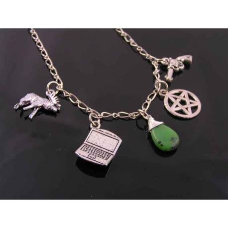Supernatural Charm Necklace Sam Winchester, Sam's Necklace