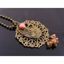 Romantic Initial Heart and Filigree Necklace