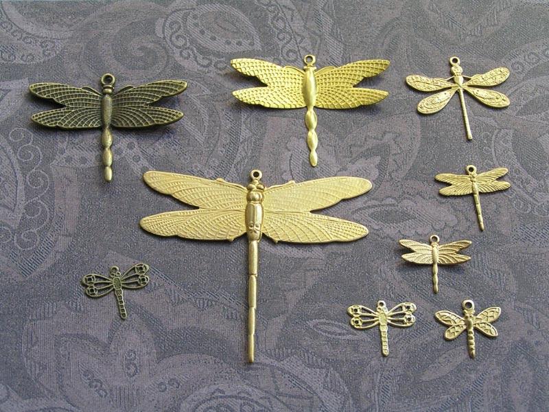 Brass Dragonfly Pendants