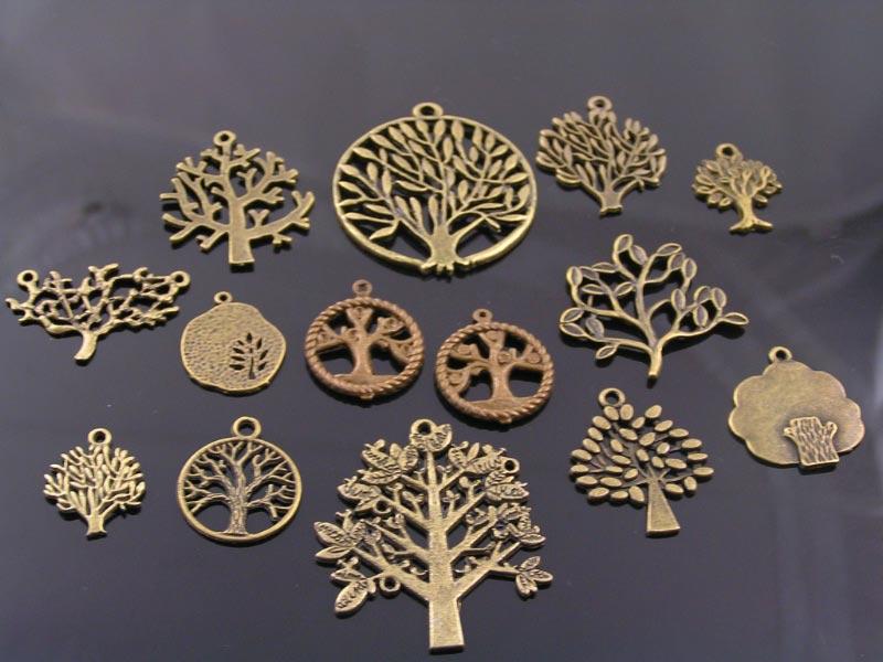Bronze Tone Tree Pendant