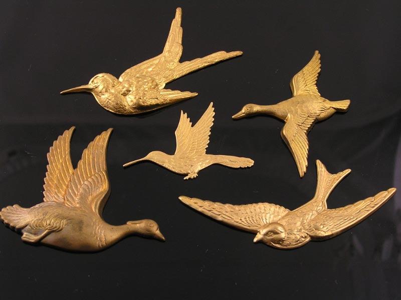 Brass Bird Pendants