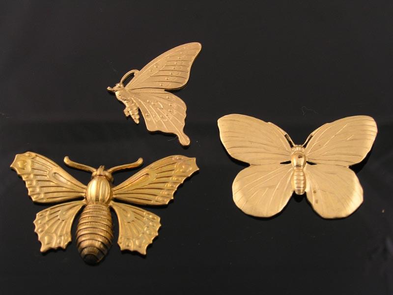 Solid Brass Butterfly Pendants