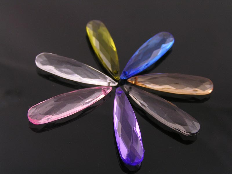 Large Acrylic Drop Beads
