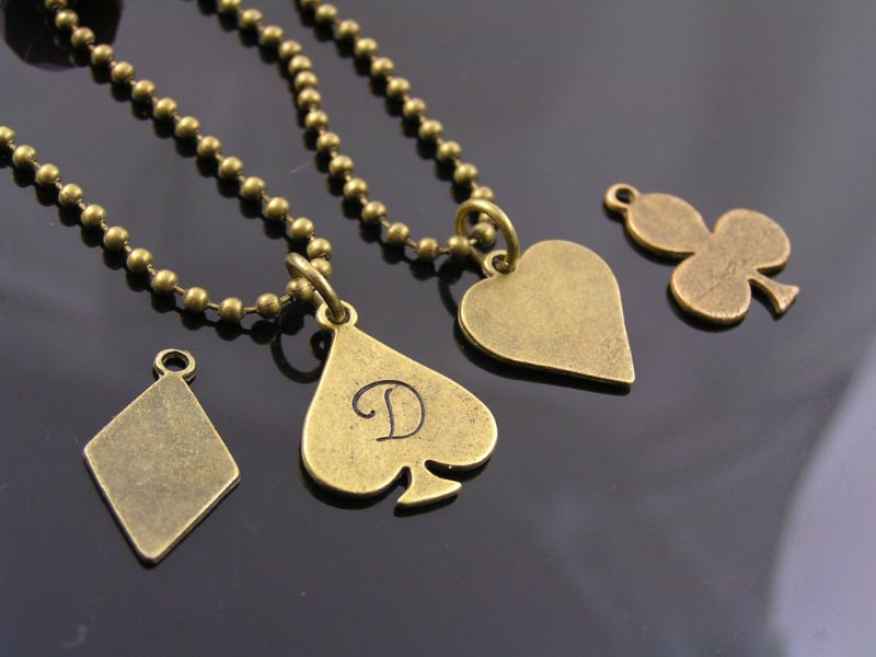 playing card suits pendants