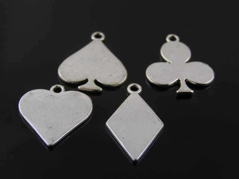 Charms/Pendants in Playing Card Suits