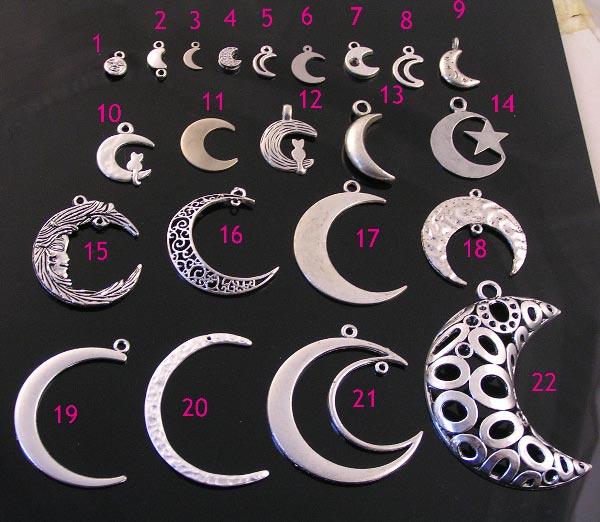 Silver Moon Pendants